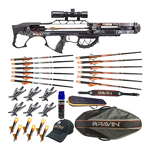 Ravin Crossbows R29 430 FPS Crossbow (Predator Camo) Huntsman Bundle (11 Items)