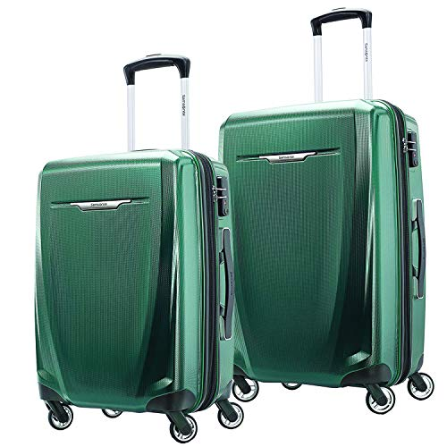 Samsonite Winfield 3 DLX Hardside Expandable Luggage with Spinners, Emerald, 2-Piece Set (20/25)