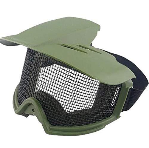 Maske Schild Taktische Motorradbrille CS Mesh PC Objektiv Kugelsichere Schutzbrille WosporT Motorradteile (Color : Green)