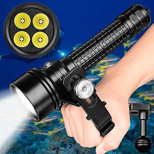 Odepro Torcia elettrica Subacquea D3800S 3800 Lumen 2 modalità Luce Principale con indicatore Batteria per Immersione Subacquea Professionale da 150 m …