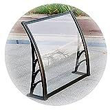 LIQICAI Intemperie Puerta Ventana Toldo Dosel, 2,5 mm Transparente Policarbonato Techumbre Marquesinas, Aleación Aluminio Soporte Pabellón por Patio Jardín (Color : Claro, Size : 60X120CM)