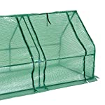 Outsunny 9' l x 3' w x 3' h portable tunnel greenhouse outdoor garden mini hot house with large zipper doors, water/uv… 14 ✅protect plants from the elements: bring all of your plants together in a unified and protected space with our garden greenhouse. Having everything in one place means our plant nursery helps you manage and grow your plants, fruits, vegetables, and flowers all year round. ✅updated design with 3 large doors: the 3 side doors of our plant nursery can be completely opened and rolled up with ties, thereby making a larger space & creating better ventilation. ✅let and keep the good stuff in: this small hot house features a pe mesh grid cover that is sun and water fighting to help protect plants while allowing nourishing sunlight to pass through. Furthermore, the cover helps retain heat during colder months.