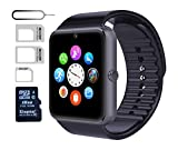 eMARS smart1899 Smart Watch GT08 Bluetooth with 16 GB SD Card and Sim Card Slot for Android Samsung S5 S6 Note 4 5 HTC, Sony, LG and iPhone 5/5S/6/6 Plus Smartphones - Black