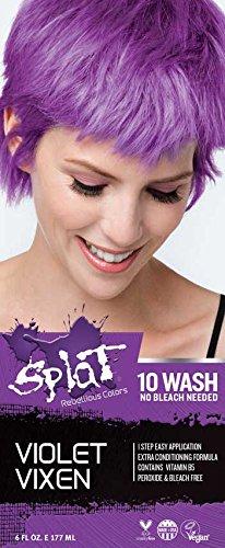 Splat | Violet Vixen | 10 Wash | No Bleach | Temporary Hair Dye
