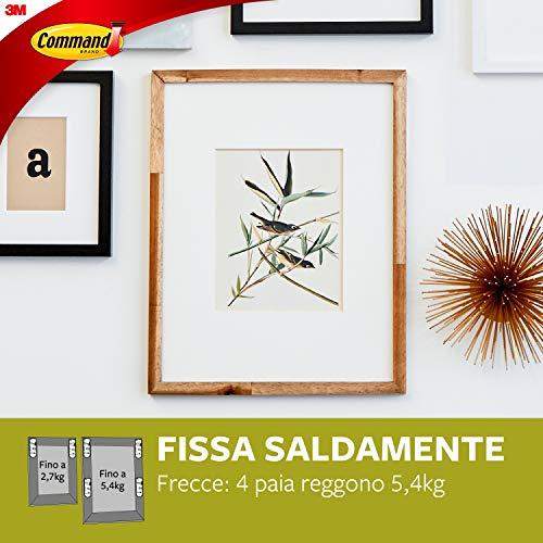 Command 17325 Strisce Appendiquadri Sottili, Bianco