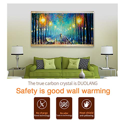 HL Heizung Panel Gut Montiert Carbon Kristall Infrarot Heizung Bad Home Office Kühler 800 Bild 2*