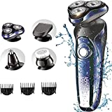 Hair Clippers for Men,2021 Newest Electric Shaver Men's Rotary Shavers 4 in 1 Rechargeable Wet & Dry Mens Razors Cordless Beard Trimmer for Men Shaving&Grooming Sets