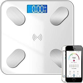 UYZ Báscula de Grasa Corporal Inteligente Profesional Báscula Antideslizante de baño Monitor de Peso inalámbrico Digital Analizador de Salud Herramienta de pérdida de Peso de Fitness Báscula dur