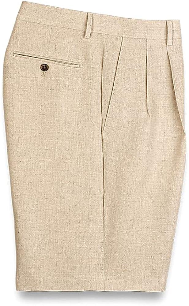 Paul Fredrick Men's Linen Pleated Shorts