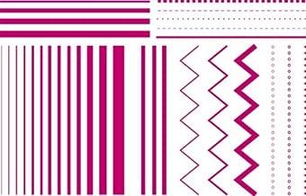 QUICKUTZ Lifestyle Crafts Lifestyle Crafts Striped Letterpress Printing Plate Set