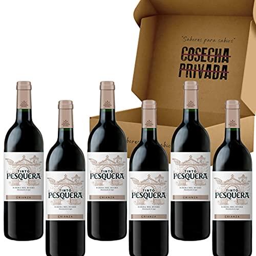 Pesquera Crianza - Envío Gratis 24 H - 6 Botellas - Bodega Familia Fernandez Rivera - Ribera del Duero - Estuche Regalo Vino - Seleccionado y enviado por Cosecha Privada