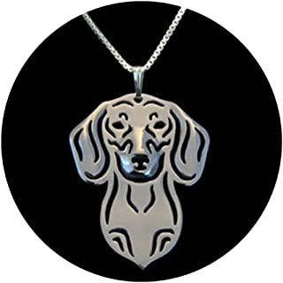 Ginger Lyne Collection Dachshund Dog Sterling Silver Pendant Box Chain Necklace