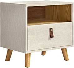 Bedside Table Bedside Table Assemble Storage Cabinet Bedroom End Tables Locker Nightstand with Shelves and Drawers Side Ta...