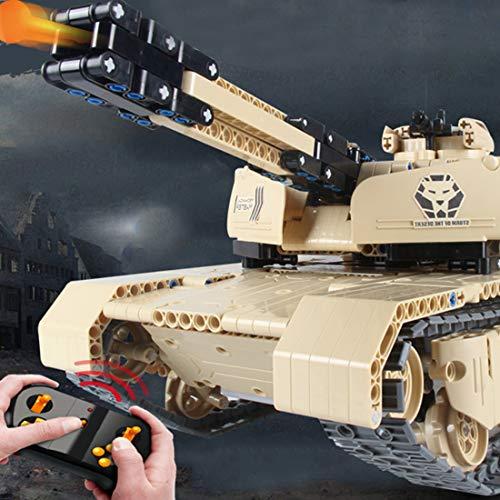 Teakpeak Militär Panzer Bausatz, RC Panzer 1 16 Panzer Ferngesteuert mit Schussfunktion Panzer Bausteine Set -1276 Stück