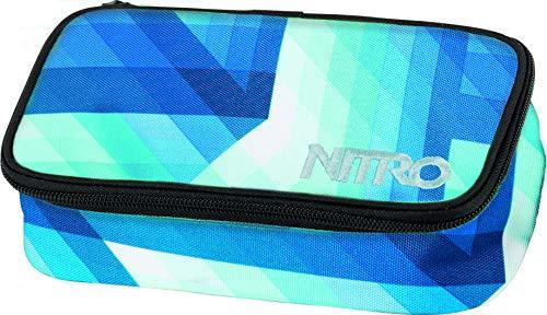 Nitro Pencil Case XL inkl. Geo Dreieick & Stundenplan, Federmäppchen, Schlampermäppchen, Faulenzer Box, Federmappe, Stifte Etui, Geo Ocean, 21 x 10 x 6,5 cm