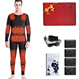 JXILY Electric Heating Thermal Underwear Energy Stone Winter Whole Body Smart Men and Women Graphene Charging Heating Clothes,XXXL