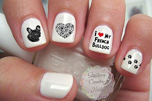 French Bulldog Mom Nail Art Decals