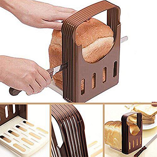 Macabolo Brotschneider, faltbare Kunststoff Toast Brot Scheiben Laib Cutter Brot Schneiden Werkzeug Küche Bakeware
