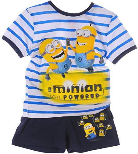 Shortama Kinder Shorty Minions Shorts Anzug Zweiteiler T-Shirt Shorts (6J - 116)