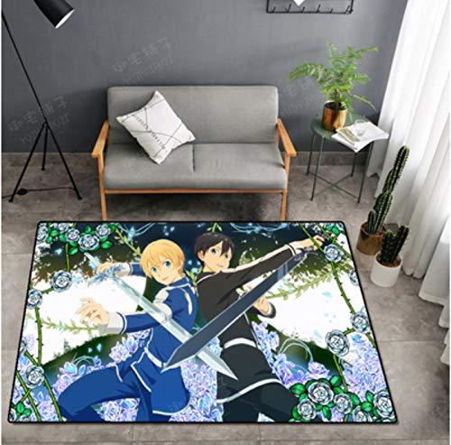 Teppich Nach Hause Kinderzimmer Anime Cartoon Messer Schwert Gott Domäne Wohnzimmer Couchtisch Schlafzimmer Schlafzimmer Am Bad Rutschfeste Studie Garderobe Dekorativer Teppich 100 * 200Cm
