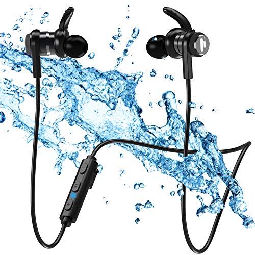 Auriculares Bluetooth Deportivos Auriculares Inalámbricos Deporte - Deportivos Inalámbricos IPX7 Impermeable Cascos Magnético In-Ear,Correr con Micrófono, Anti-Sudor y Cancelación de Ruido Duración 7H