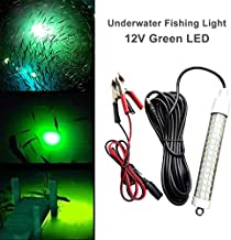 12V 120 LED 1000 Lumens Lure Bait Finder 10.5W Night Fishing Finder Crappie Shad Boat LED Submersible Underwater Light with Battery Clip and Power Plug 6M Power Cord