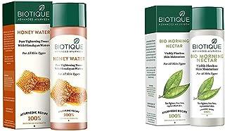 Biotique Bio Honey Water Clarifying Toner, 120ml & Biotique Bio Morning Nectar Visibly Flawless Skin Moisturizer, 120ml