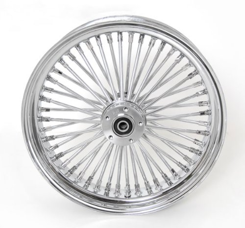Demons Cycle 16 x 3.5 Black 48 Fat Spoke Front Wheel Compatible with Harley-Davidson Dual Disc