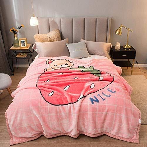 Asbecky Kuscheldecke Warmes Polar Fleece über weiche Luxus-Schlafsofa-Decke werfen Doppelseitige Samtdecke-180x200cm-3kg_16