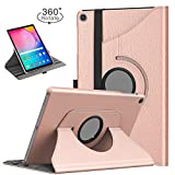 TiMOVO Case for Samsung Galaxy Tab A 10.1 2019 (T510/T515),Ultra Lightweight Slim Shell 360 Degree Rotating Swivel Stand Cover Fit Galaxy Tab A 10.1 2019 Tablet - Rose Gold