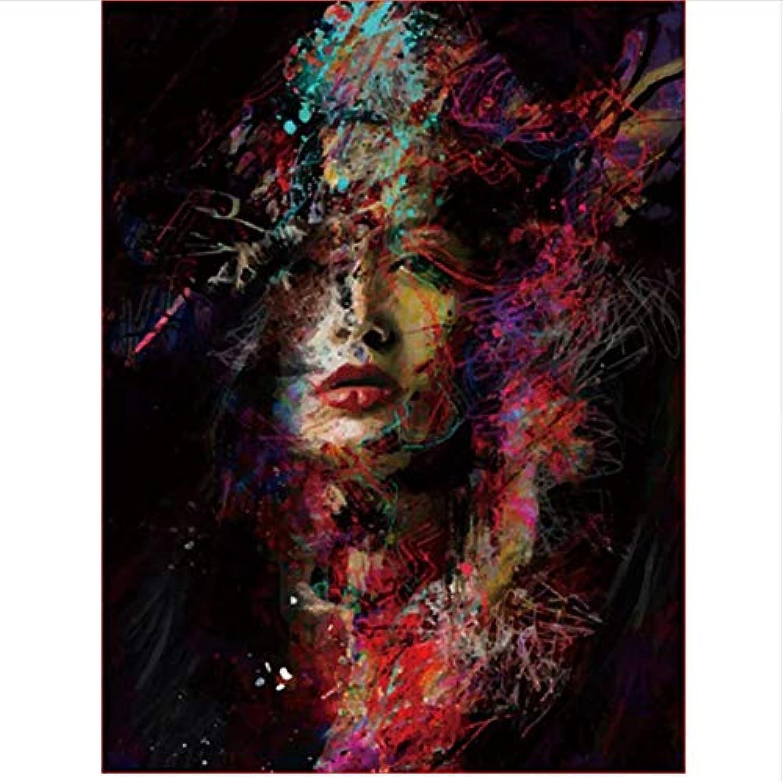 Czyyou Digital Malen Nach Zahlen Gemalt Frau Färbung Wandkunst Bild