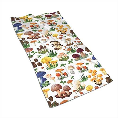 Tyueu - Toalla de Mano para Cocina, diseño de Setas y Hongos, 15,7 x 27,5 Pulgadas