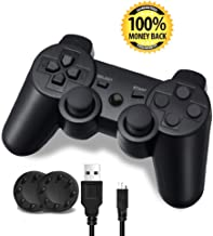 PS3 Controller, Wireless Bluetooth Gamepad Double Vibration Remote Joystick for..