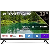 """sansui es32s1n 32"""" hd hdr smart tv television 32-inch built-in hdmi, usb - support screen cast"""