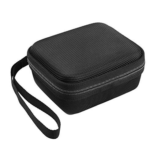 SimpleLife Portable Eva Reißverschluss Hartschalenkoffer Reise Aufbewahrungstasche Box Für JBL Go 1/2 Bluetooth Lautsprecher Schwarz, 10 cm x 9 cm x 5 cm