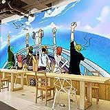 ZNNBH 3D-Wandbild Selbstklebende Wandkunst (B) 250X (H) 175Cm Pirate Juvenile Japanese Anime Fototapete 3D-Wandbild Jungen Und Mädchen Kinderzimmer Wandbild Kinderzimmer Papier Wohnzimmer...