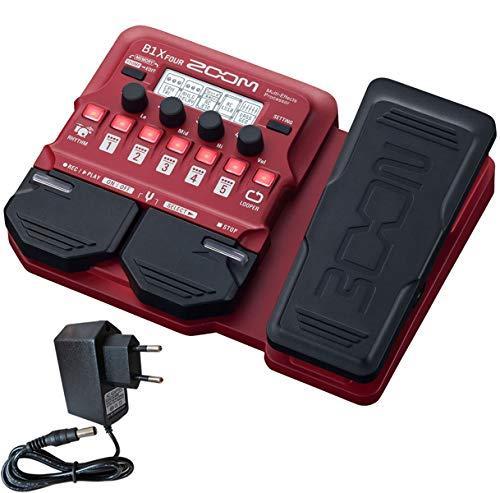 Zoom B1X FOUR Multi-Effektgerät für Bass + keepdrum Netzteil 9V