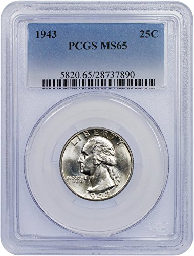 1943 P Washington Quarter Quarter MS 65 PCGS
