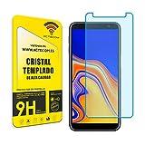 actecom Protector Cristal Templado Compatible con Samsung Galaxy J6 Plus 9H 2.5D Pantalla