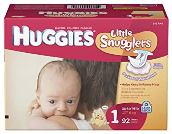 Huggies Little Snugglers Diapers Size 1 92-Count