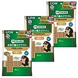 ライオン (LION) ペットキッス (PETKISS) 犬用おやつ 食後の歯みがきガム プレミアム 6本入×3個パック (まとめ買い)