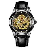 Reloj de Cuarzo cronógrafo Impermeable Informal de Acero Inoxidable para Hombre-A