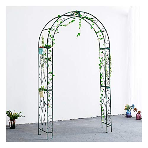 Garden arch trellis for climbing plants,Durable Rose Archway,Wedding Arbor for Indoor/Outdoor Lawn Garden,Green 7.2 Feet High x 4 Feet Wide Pergola Arbour