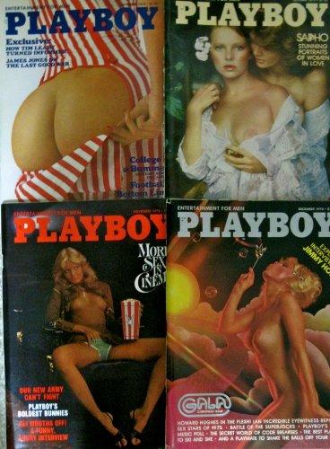 Four 1975 Issues Playboy Magazine (September, October, November, December)