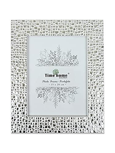 Marco de fotos madera para mesa (Blanco, 15x20)