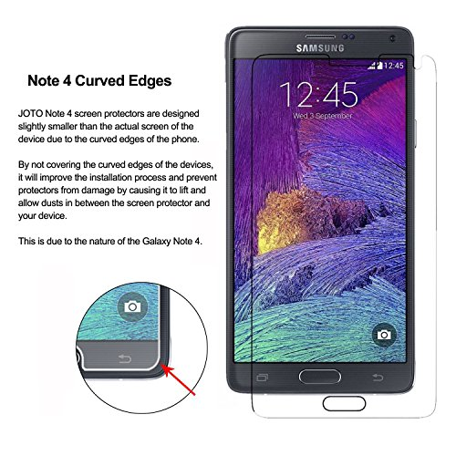 Samsung Galaxy Note 4 Tempered Glass Screen Protector - JOTO Galaxy Note 4 0.33 mm Round (1 Pack)