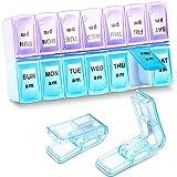 Set de Organizador de Pastillas Incluye 2 Cortadores de Pastillas Divisor de Pastillas y 1 Caja Organizadora de Medicamentos para Viaje de Diseños Considerados de 7 Días para Llevar Píldoras