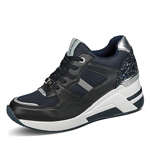 TOM TAILOR Damen 1191512 Sneaker, Navy, 40 EU