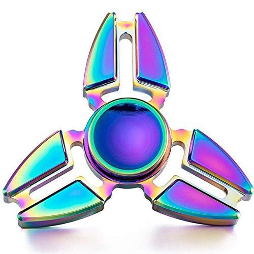 YTYASO Hand Spinner Edc Fidget Spinner Metal Rainbow Spiner Juguete Anti-Ansiedad para Spinners Focus Alivia El Estrés ADHD Finger Spinner
