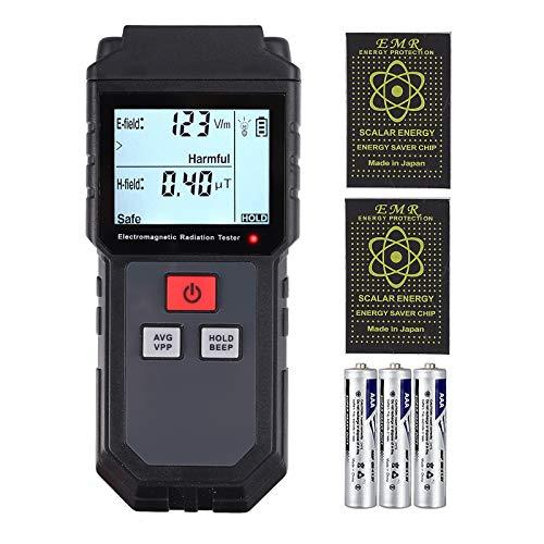 Neoteck EMF Medidor de Radiación de Campo Electromagnético de Mano con Baterías Mini Digital LCD Detector de EMF con Protección contra Radiación